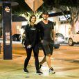Chris Pratt et sa compagne Katherine Schwarzenegger sont allés dîner au restaurant R+D Kitchen à Santa Monica. Les tourtereaux semblent détendus après ce rendez-vous en tête à tête, le 29 aout 2018.
