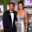 Neymar Jr. et sa fiancée Bruna Marquezine au dîner Neymar Jr. Institut à l'hôtel UNIQUE à Sao Paulo au Brésil, le 19 juillet 2018.
