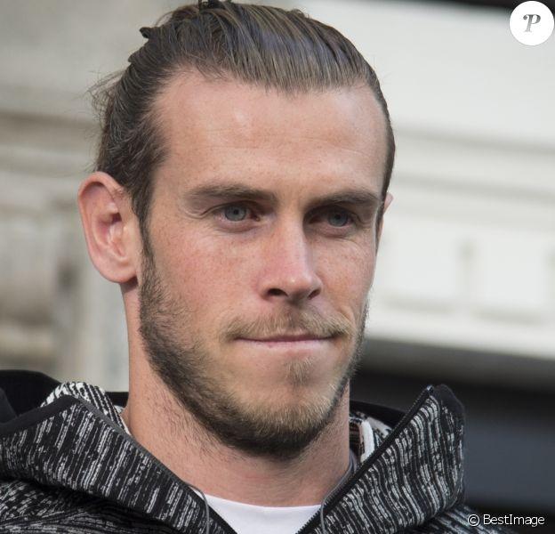 Gareth Bale fait la promotion de la ligne de vêtement ZNE pulse de la marque Adidas à Madrid le 15 septembre 2017.