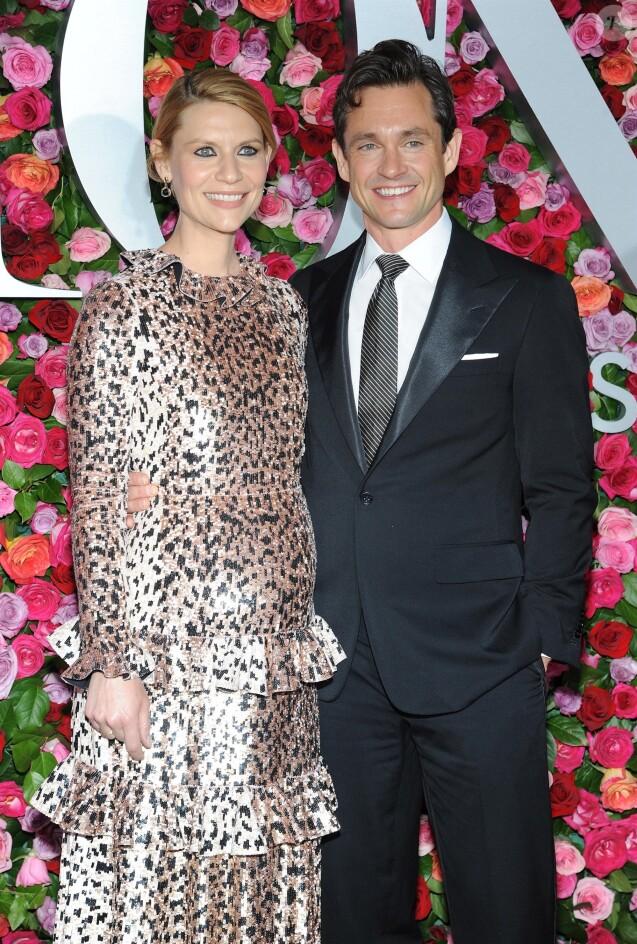 Claire Danes enceinte et son mari Hugh Dancy - 72ème cérémonie annuelle des Tony Awards au Radio City Music Hall à New York, le 10 juin 2018.