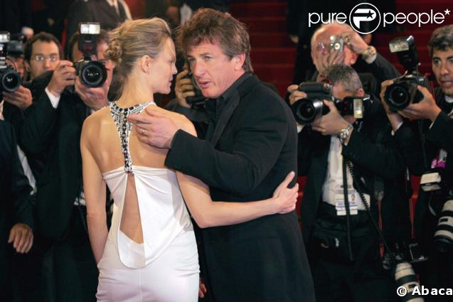 Sean Penn et Robin Wright Penn à Cannes en 2004
