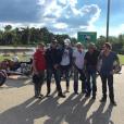 Johnny Hallyday et sa bande en plein road trip à travers les Etats-Unis - Arrivée au Texas, il y a une semaine, 16 septembre 2016.