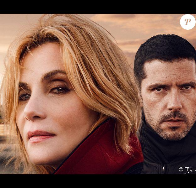 """Emmanuelle Seigner et Melvil Poupaud dans """"Insoupçonnable"""", la série événément de TF1. Septembre 2018."""