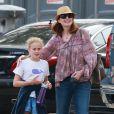 Exclusif - Marcia Cross a regardé sa fille Eden jouer un match de basket, en compagnie de son autre fille, Savannah. Son mari Tom Mahoney jouait le coach. Le 18 septembre 2016 à Los Angeles.