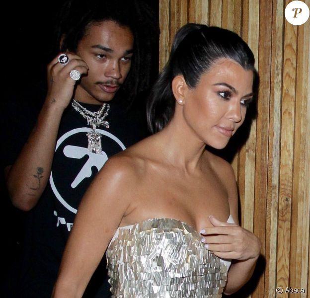 Kourtney Kardashian est allée diner et faire la fête à The Nice Guy avec Luka Sabbat à Los Angeles, le 14 septembre 2018