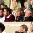 Thierry Henry, Didier Deschamps - Match de football entre l'AS Monaco et l'Atlético de Madrid lors de la 1ère journée de Ligue des champions au stade Louis-II à Monaco le 18 septembre 2018. L'Atlético de Madrid a battu l'AS Monaco sur le score de 2 buts à 1. © Lionel Urman/Bestimage