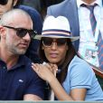 Amel Bent et son mari Patrick Antonelli dans les tribunes des internationaux de tennis de Roland Garros à Paris, France, le 3 juin 2018. © Dominique Jacovides - Cyril Moreau/Bestimage