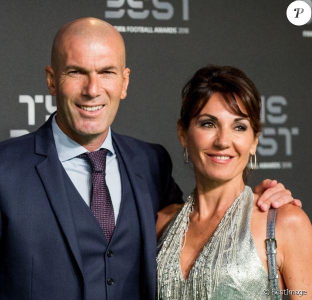Zinedine Zidane et sa femme Véronique - Les célébrités arrivent à la cérémonie des Trophées Fifa 2018 au Royal Festival Hall à Londres, Royaume Uni, le 25 septembre 2018. © Cyril Moreau/Bestimage