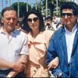 """Archives - Jean-Louis Trintignant, Anouk Aimée et Claude Lelouch présentent """"Un homme et une femme : Vingt ans déjà"""" au Festival de Cannes en 1986"""