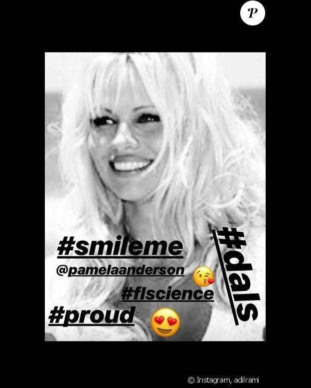 Adil Rami apporte son soutien à Pamela Anderson sur Instagram le 26 septembre 2018.