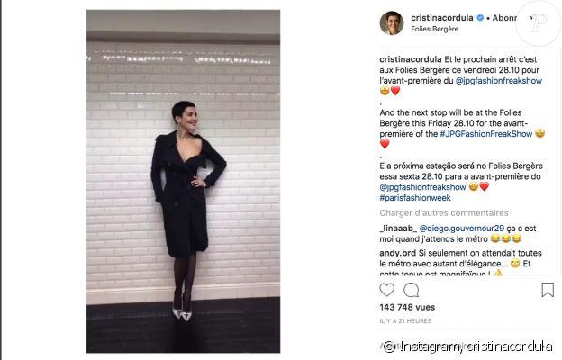 Cristina Cordula s'affiche sexy en vidéo sur Instagram, le 26 septembre 2018.