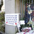 Illustration des hommages devant la maison de Johnny Hallyday à Marnes la Coquette le jour de ses obsèques. Le 9 décembre 2017 © Marc Auuset-Lacroix / Bestimage