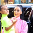 Kim Kardashian et sa fille North à New York, le 29 septembre 2018