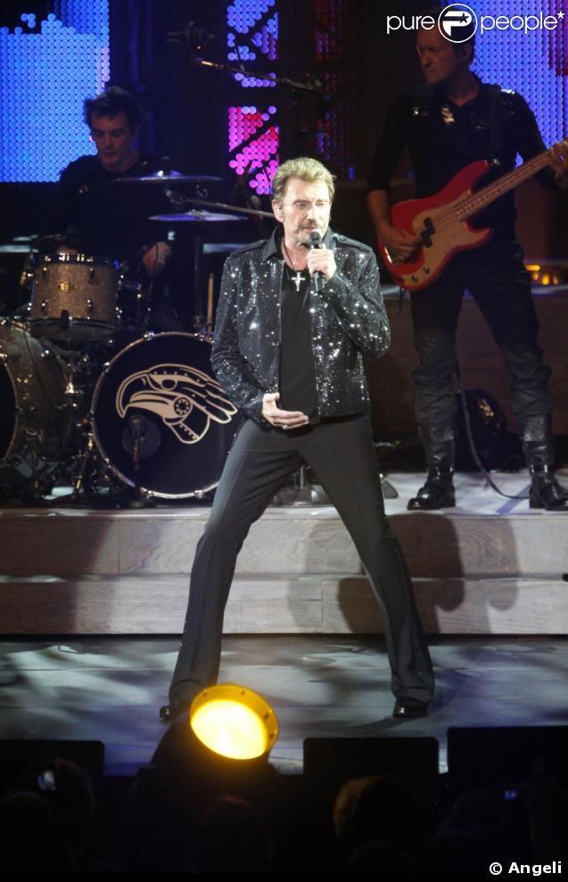 Johnny Hallyday en concertà Saint-Etienne