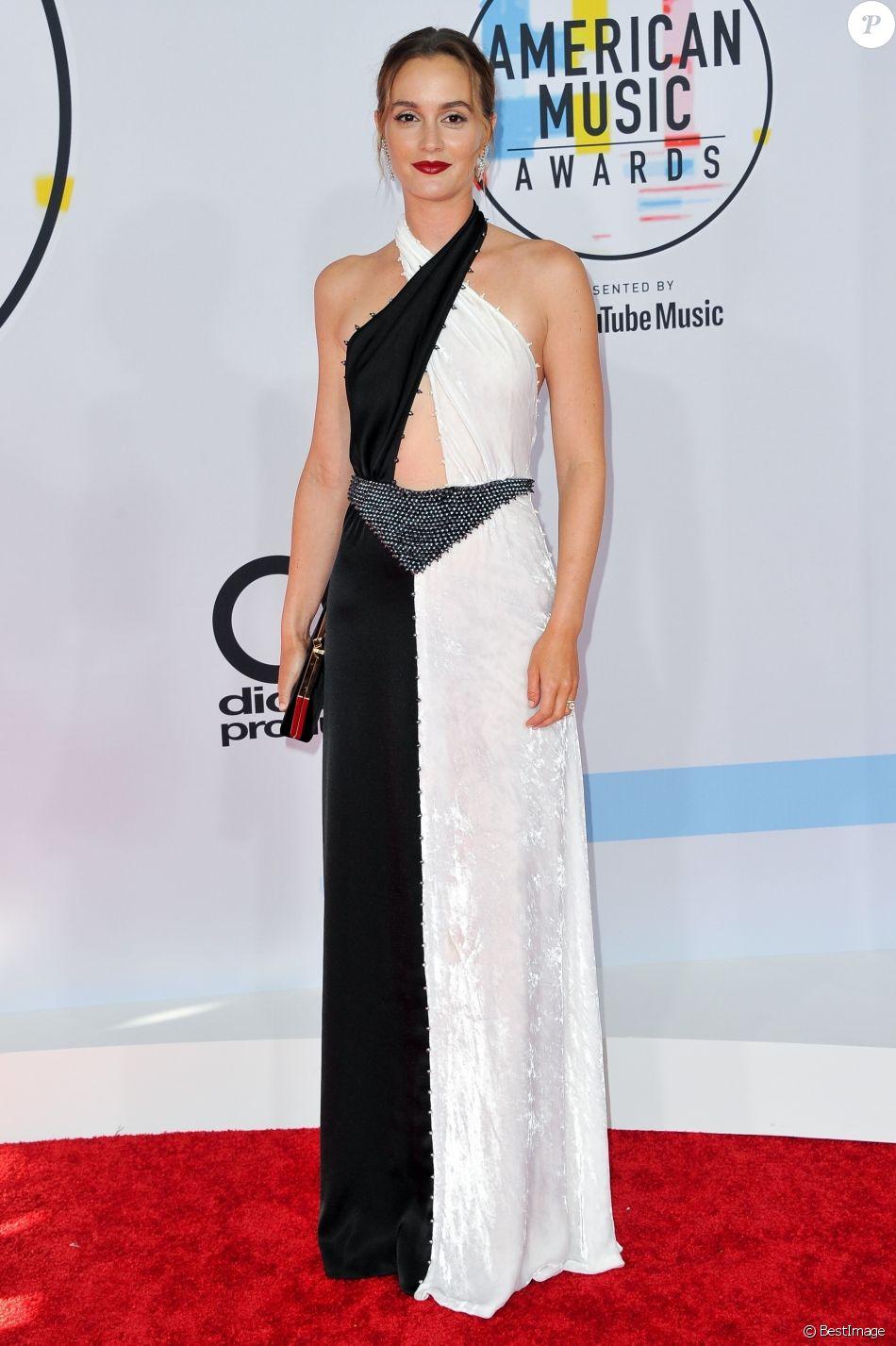 Leighton Meester à la soirée 2018 American Music Awards au théâtre Microsoft à Los Angeles, le 9 octobre 2018