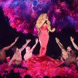 Mariah Carey à la soirée 2018 American Music Awards au théâtre Microsoft à Los Angeles, le 9 octobre 2018