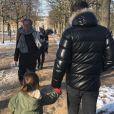 Le mari de Marc-Olivier Fogiel et sa fille Lily - Twitter, 10 février 2018