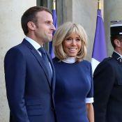 Brigitte Macron recycle sa robe bleu marine... Un nouveau coup de coeur ?