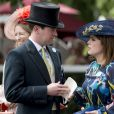 La princesse Eugenie d'York et son compagnon Jack Brooksbank assistent aux courses du Royal Ascot 2017 à Londres le 23 juin 2017.