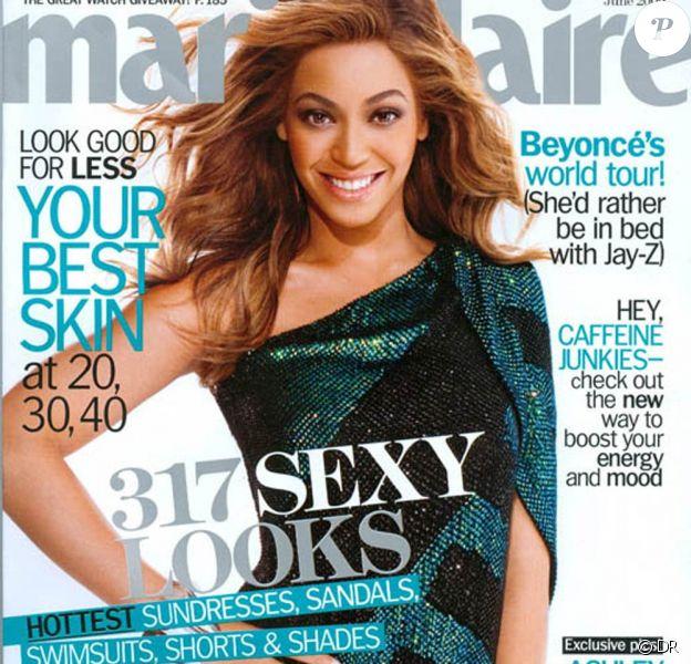 Beyoncé en couverture du Marie-Claire US du mois de juin