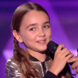 "Angelina lors de la finale de ""The Voice Kids 4"" (TF1), samedi 30 septembre 2017."