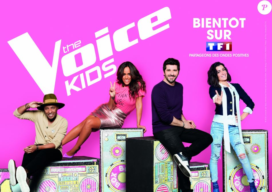 Amel Bent, Jenifer, Soprano, Patrick Fiori, les coachs de The Voice Kids 5.