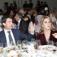 "Manuel Valls et sa compagne Susanna Gallardo - Soirée ""Los Premios Planeta 2018 awards"" à Barcelone en Espagne le 15 octobre 2018."