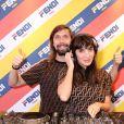 Les DJs Pedro Winter et Piu Piu - Cocktail de lancement pour la collection capsule FENDI MANIA à la boutique FENDI, rue Saint-Honoré. Paris, le 16 octobre 2018.
