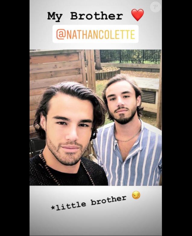 Anthony Colette et son petit frère Nathan, une photo publiée le 16 octobre 2018.