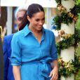 Le prince Harry, duc de Sussex visite le Tupou College, à Toloa, sur l'île de Tongatapu, aux Tonga, le 26 octobre 2018.