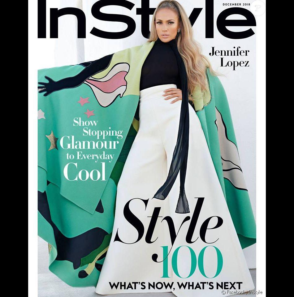Jennifer Lopez en couverture du magazine InStyle. Photo par Antoine Maule.