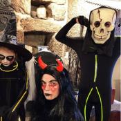 Sylvie Tellier : Terrifiante photo avec ses enfants grimés pour Halloween