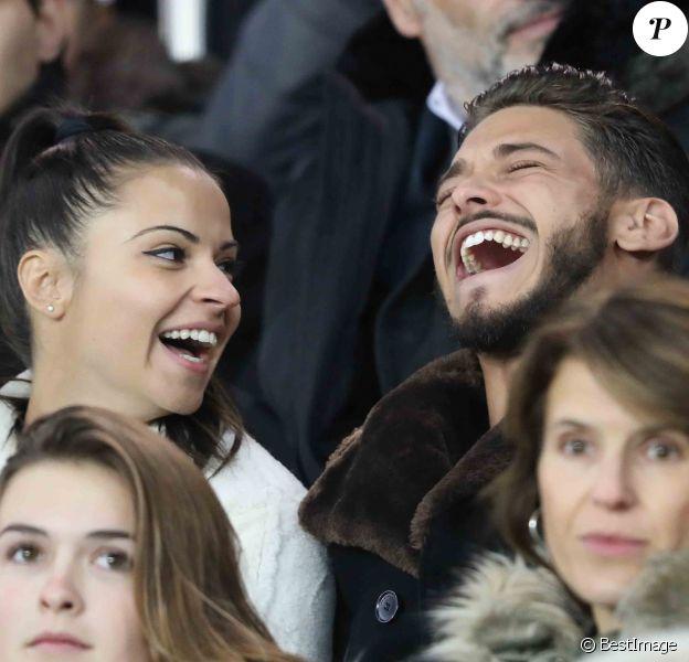 Denitsa Ikonomova et Rayane Bensetti hialres lors du match de Ligue 1 PSG - Lille au Parc des Princes à Paris, le 2 novembre 2018.