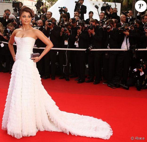 La belle Aishwarya Rai, le 13 mai 2009, lors de l'ouverture du 62e Festival de Cannes !