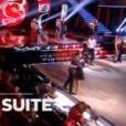 """Karine Ferri et Camille Combal se font un câlin dans """"Danse avec les stars 9"""" sur TF1. Le 8 novembre 2018."""