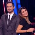 """Camille Combal écrit un petit mot tendre à Karine Ferri dans """"Danse avec les stars 9"""" sur TF1. Le 8 novembre 2018."""