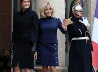 Brigitte Macron : Souriante malgré le deuil avec Melania Trump à l'Élysée