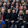 Angelique Kidjo, chanteuse, le roi Mohammed VI du Maroc, Melania Trump, Donald Trump président des Etats Unis, la chancelière allemande Angela Merkel, le président Emmanuel Macron, Brigitte Macron, le président de la Russie Vladimir Poutine - Cérémonie internationale du centenaire de l'Armistice du 11 novembre 1918 à l'Arc de Triomphe à Paris, France, le 11 novembre 2018. © Xavier Popy / Pool / Bestimage