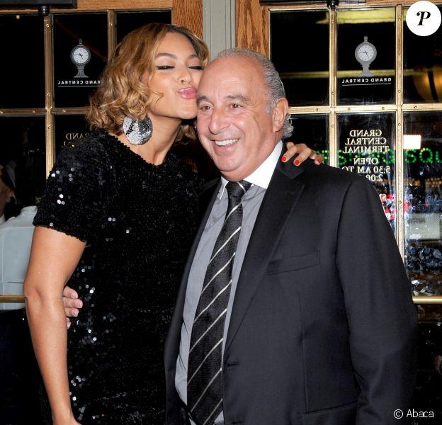 Beyoncé et Sir Phillip Green à New York, le 4 novembre 2014.