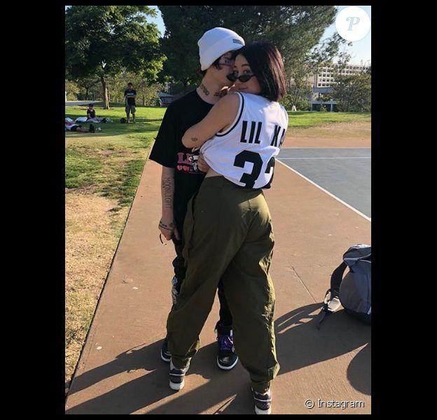 Noah Cyrus et Lil Xan. Juillet 2018.