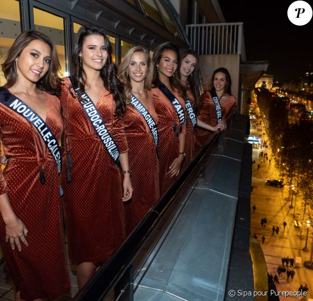Soirée à la Maison de l'Alsace à Paris pour les 30 Miss régionales du concours Miss France 2019. Le 18 novembre 2019.