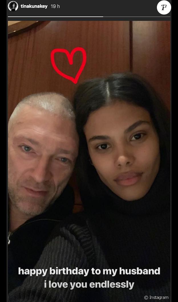 Tina Kunakey souhaite l'anniversaire de son mari Vincent Cassel (52 ans) sur Instagram le 23 novembre 2018