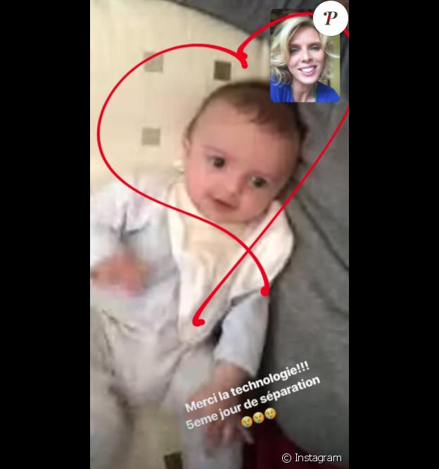 Sylvie Tellier dévoile une photo de son fils Roméo dans sa story Instagram. Le 24 novembre 2018.