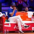 """Yannick Noah lors du match de finale de la Coupe Davis """"Jo-Wilfried Tsonga (France) - Marin Cilic (Croatie)"""" au stade Pierre Mauroy à Villeneuve d'Ascq, le 23 novembre 2018. La Croatie l'a emporté 6-3, 7-5, 6-4."""
