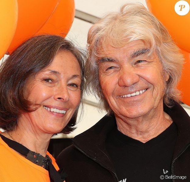 Exclusif - Daniel Guichard (Parrain de la 11ème édition des Journées de la Marie-Do) pose avec sa femme Christine Guichard (Kiki) pendant Marie-Do à Ajaccio, le 1er octobre 2017.