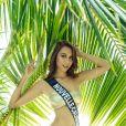 Miss Nouvelle-Calédonie en maillot de bain lors du voyage Miss France 2019 à l'île Maurice, en novembre 2018.