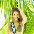 Miss Franche-Comté en maillot de bain lors du voyage Miss France 2019 à l'île Maurice, en novembre 2018.