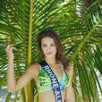 Miss Rhone-Alpes en maillot de bain lors du voyage Miss France 2019 à l'île Maurice, en novembre 2018.