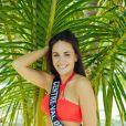 Miss Centre-val-de-Loire en maillot de bain lors du voyage Miss France 2019 à l'île Maurice, en novembre 2018.