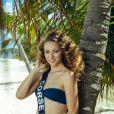 Miss Corse en maillot de bain lors du voyage Miss France 2019 à l'île Maurice, en novembre 2018.